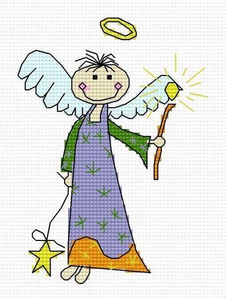 Charming angel (holidays, for children, Christmas, Xmas)
