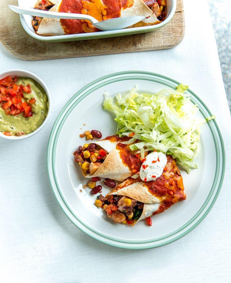 Enchilada's met kip