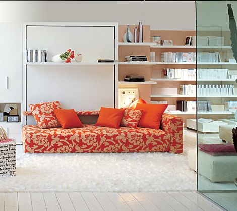 Simple Elegant ATOLL Model Wall Bed with Attached 3 Seater Sofa Amazing - Minimalist hideaway bed sofa For Your Plan