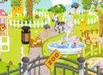 Questo zoo è davvero un disastro! Tra qualche ora arriveranno numerosi visitatori e bisogna pulire e aggiustare le recinzioni degli animali! Cura i dettagli.