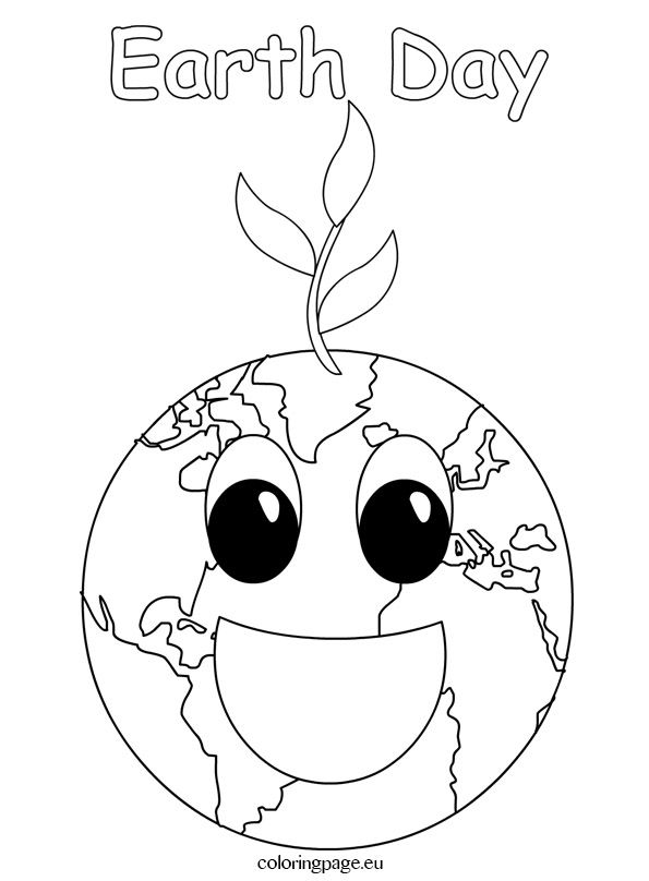 Coloring Page Earth Day