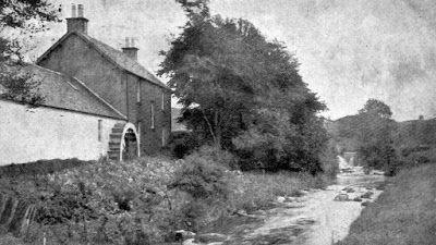 Tour Scotland Photographs: Old Photograph Mains Fall Mill Eaglesham Scotland