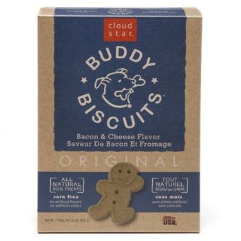 Cloud Star Original Buddy Biscuits Dog Treats, Bacon & Cheese - 16 oz