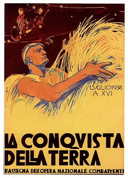 """Cambellotti duilio - Fascism - """"The conquest of the earth"""""""