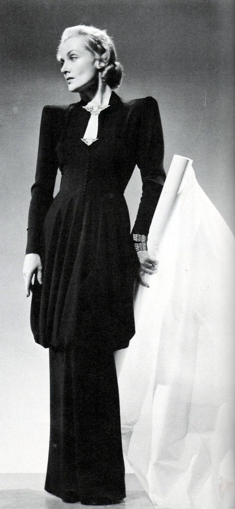 Carole Lombard as 'Ann Krausheimer Smith' - 1941 - Costume Gown by Irene aka Irene Lentz (American, 1900-1962) - 'Mr. & Mrs. Smith' - Director:  Alfred Hitchcock - @~ Watsonette
