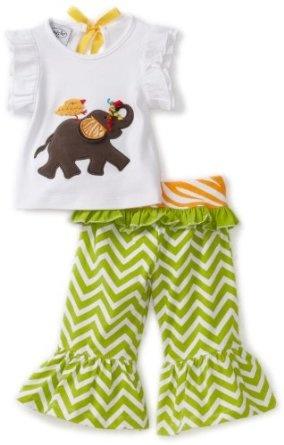Mud Pie Baby-Girls Safari Elephant Yoga Pant Set: Amazon.com: Clothing