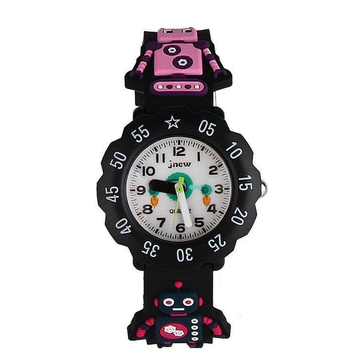 Hot Fashion 3d Cartoon Waterproof Wrist Watch Rubber Analog For