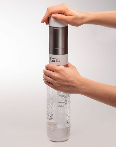 make homemade soda at home without the cost or bulk of the soda stream machine, fizzini water carbonater, carbonation, soda water, make your own soda, soda stream, handheld carbonation