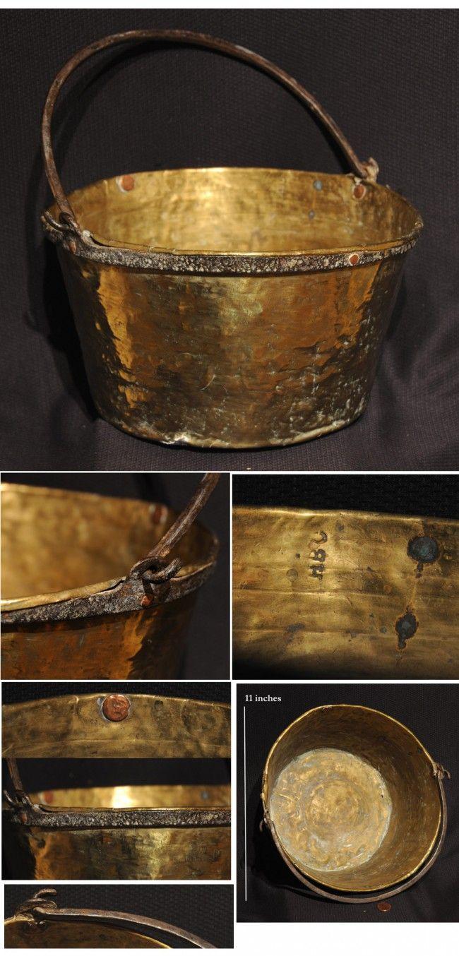Rare MARKED Hudson Bay Trade Kettle ca. 1700's