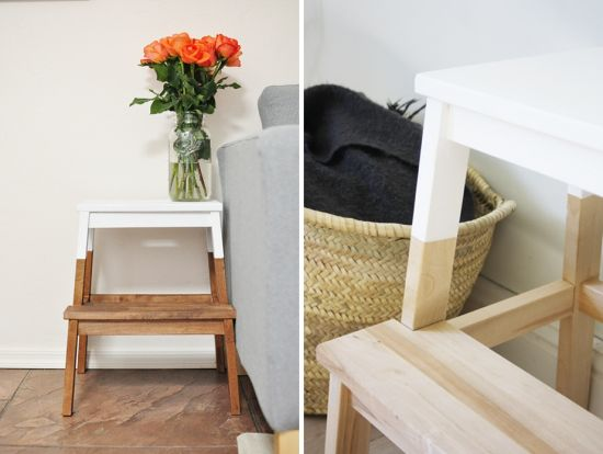 Customiser un marche pied ikea bekv m lieux design et blog - Customiser un tabouret ...