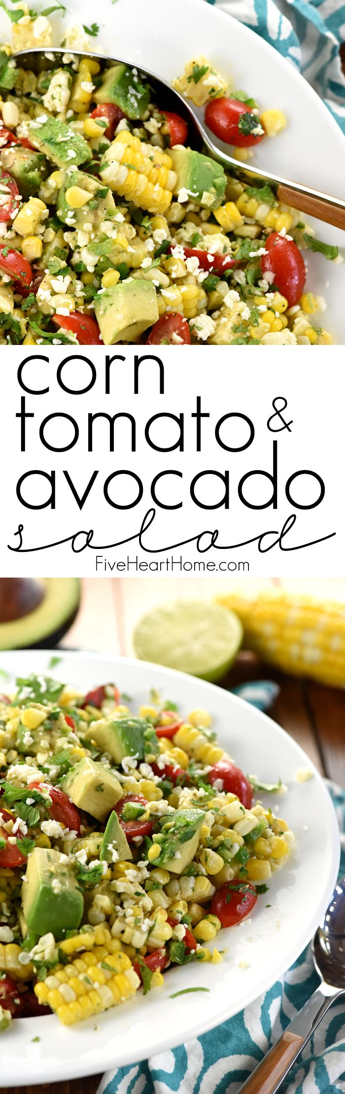 Corn, Tomato, & Avocado Salad ~ an explosion of Tex-Mex flavors and…