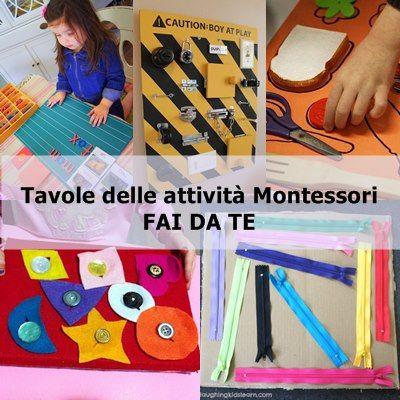 Come realizzare dei giochi di apprendimento ispirati alle attività Montessori