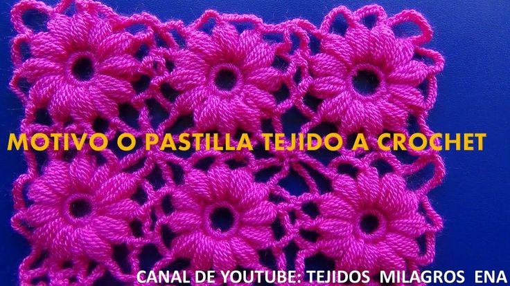 Motivo tejido a crochet # 1, especial para blusas y ponchos a crochet