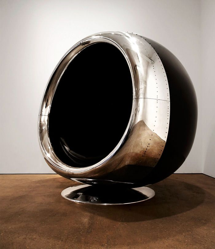 One-of-a-kind Chair Made From A Recycled Boeing 737 Engine