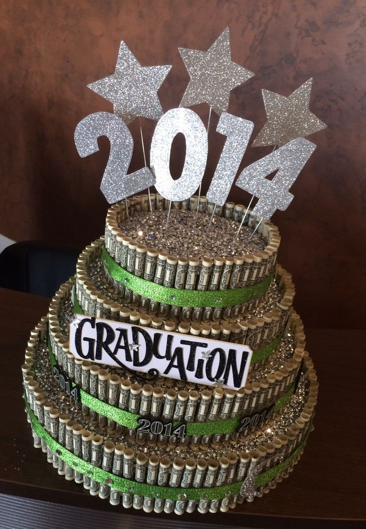 This is a pop up but see confetti to hide inside top & look pretty* mz Graduation money cake!
