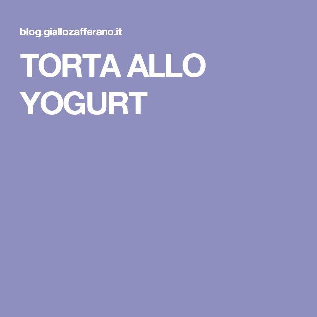 TORTA ALLO YOGURT