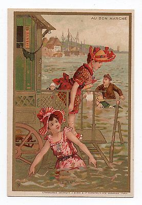 Chromo AU BON Marche LE Bain Minot Lithog | eBay