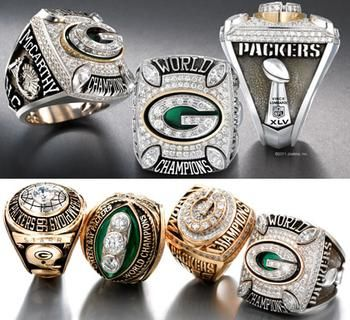 picture of green bay packers championship trophies | green bay packers newest super bowl championship ring