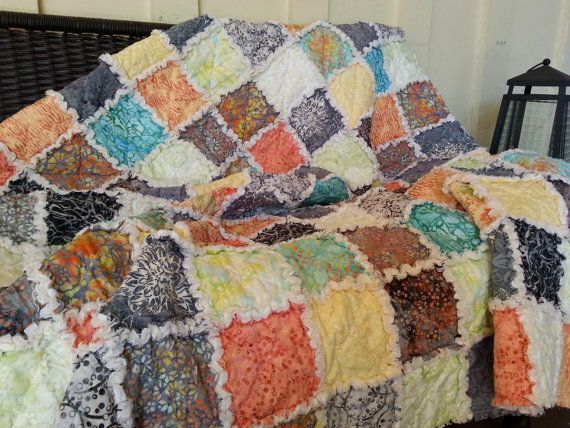 Hey, I found this really awesome Etsy listing at https://www.etsy.com/listing/229579596/picnic-quilt-throw-rag-quilt-medium
