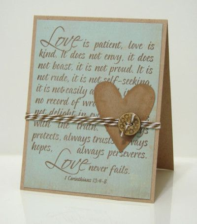 Great wedding card-Love Is Patient Love Is Kind