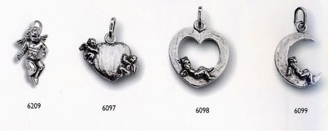 {Giovanni Raspini Charms & Co 925/000 silver Angels from Italy}