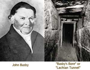 """24 March - Busby Sydney's 1st water supply, """"Busby's Bore"""""""