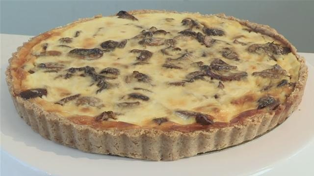 shows you how to make a wild mushroom tart with a walnut and parmesan ...