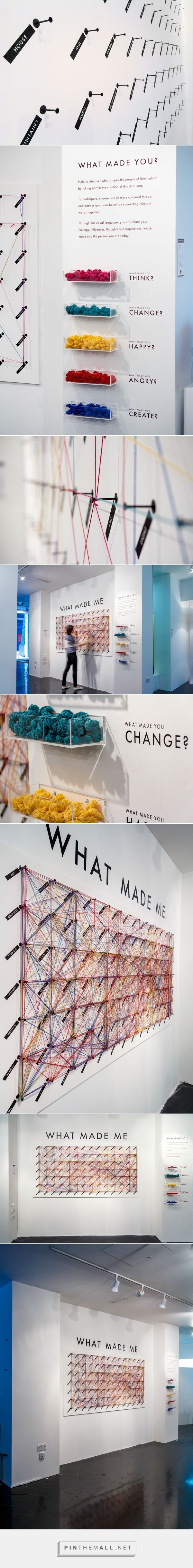 WHAT MADE ME Interactive Public Installation on Behance... - a grouped images picture - Pin Them All