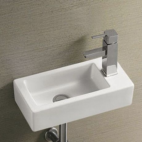 For Toilet Rondo Wall Hung Small Cloakroom Basin 1TH   365 X 185mm Part 92