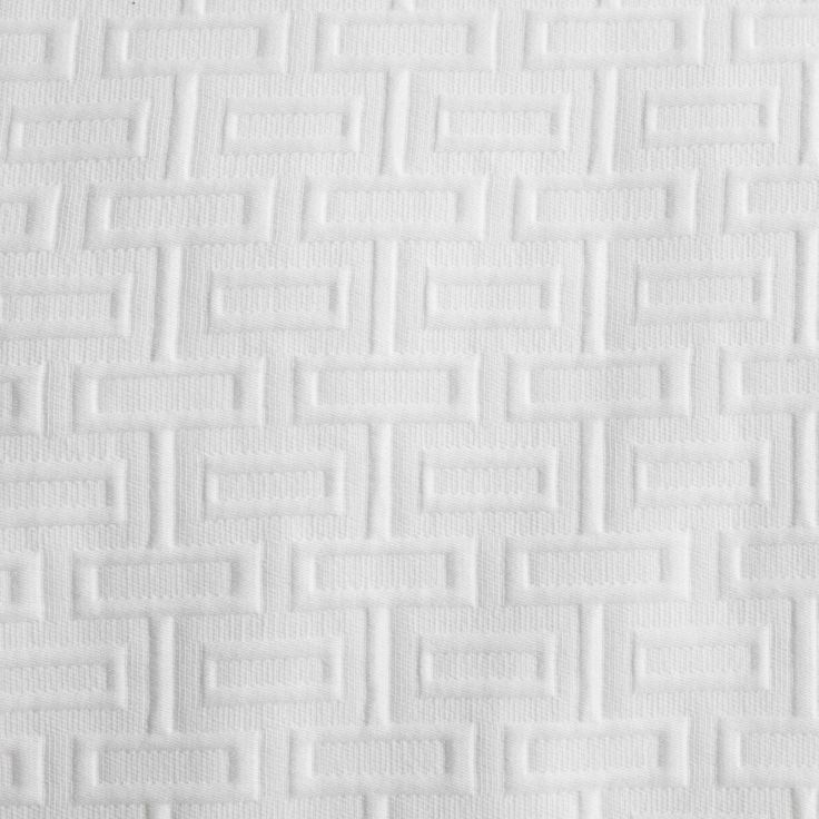 WEDGWOOD - Intaglio White Quilt Cover Set #bedroom #decor #bed #style #geometric #mint #white #wedgwood