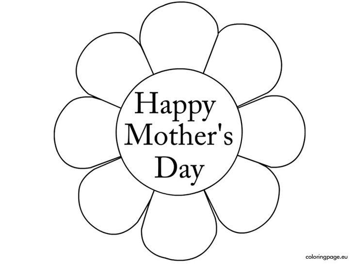Happy Mothers Day Flower Coloring PagesHappy