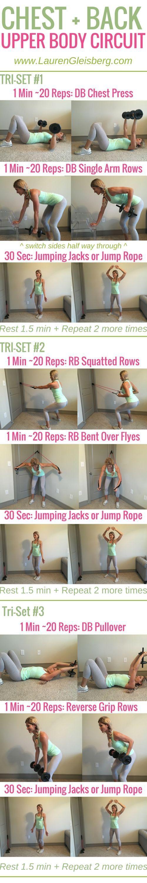 Week 2 Day 5 | Home Version | Chest + Back Upper Body Circuit | #LGFitmas Lauren Gleisberg