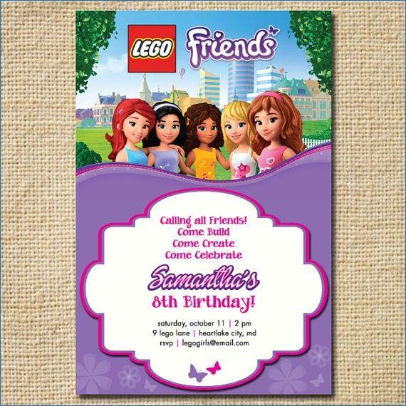 Lego Friends Birthday Invitation Lego Birthday By Creativelime Lego Birt Lego Friends Birthday Lego Friends Birthday Party Birthday Party Invitation Templates