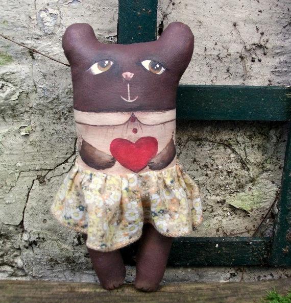 Martha  Mrs Bear art doll by MademoiselleG on Etsy