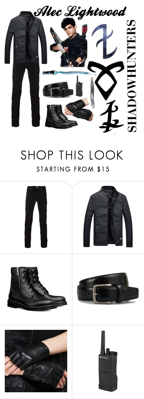 """""""Alec Lightwood"""" by ivywinchester ❤ liked on Polyvore featuring Versace, Tod's, Motorola, Rune NYC, men's fashion and menswear"""