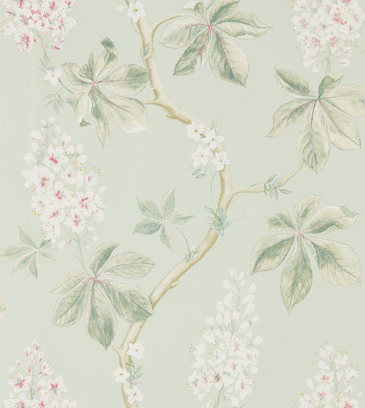 Sanderson Chestnut Tree Seaspray Wallpaper main image