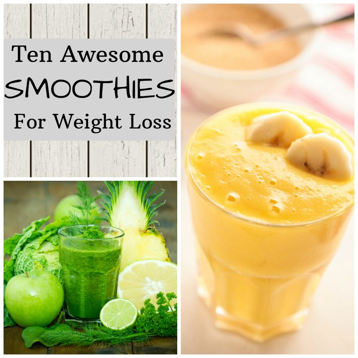 The best smoothies for weight loss. Try one of these 10 smoothie recipes to jump start your diet!
