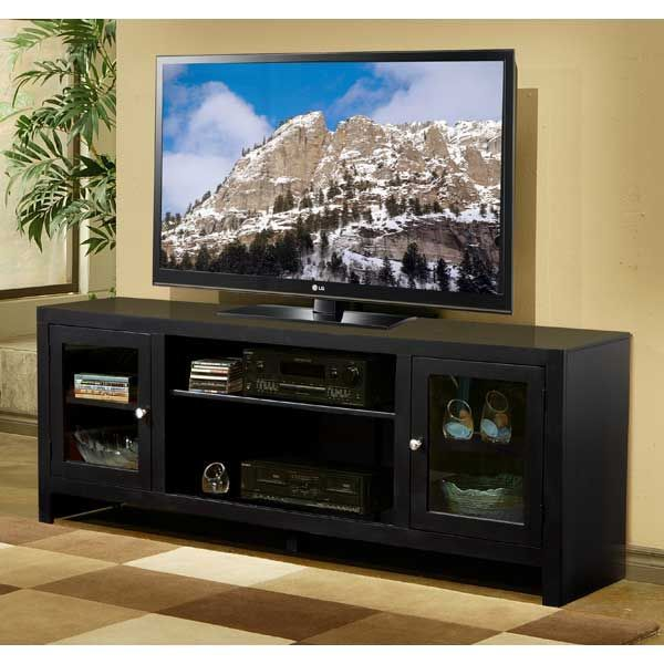 American Furniture Warehouse    Virtual Store    Del Mar 60 Inch Black TV  Console By Whalen Furniture