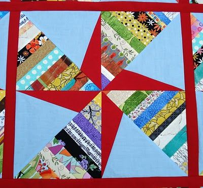 Double Pinwheel String Quilt block (tutorial): Scrap Quilts, Stars Quilts, Double Pinwheels, Quilts Str, Quilts Blocks, Pinwheels Blocks, String Quilts, Pinwheels String, Quilts Tutorials