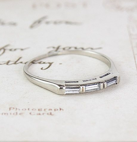 Triple Baguette Wedding Band, $700