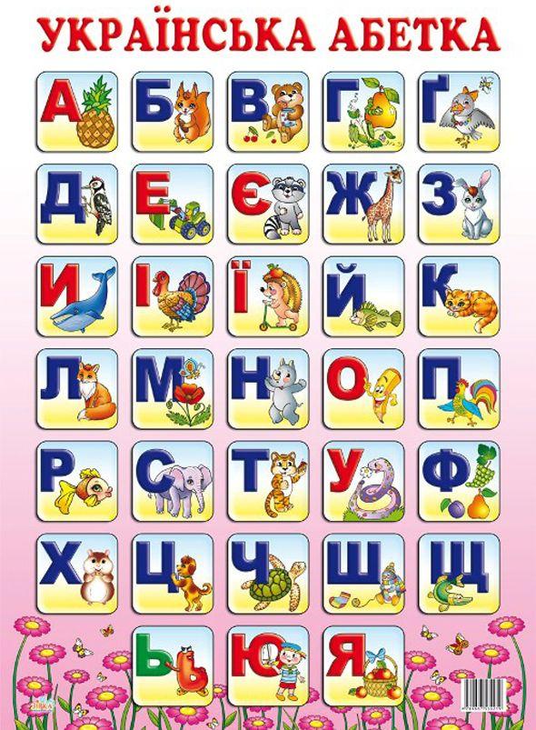 Ukrainian alphabet.
