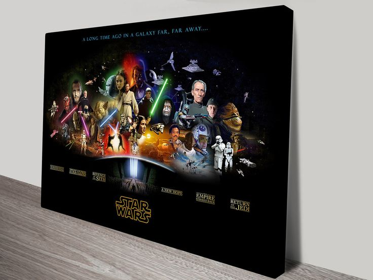 Star Wars - Characters Art Canvas Print