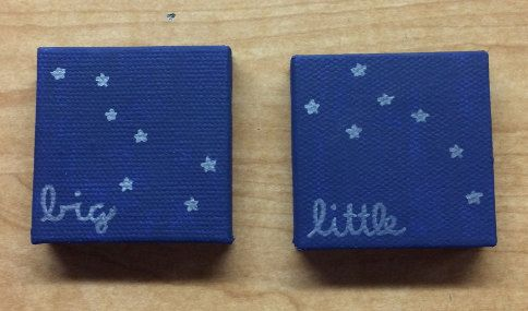 Big and Little Dipper Canvases by BrightBoldGreek on Etsy
