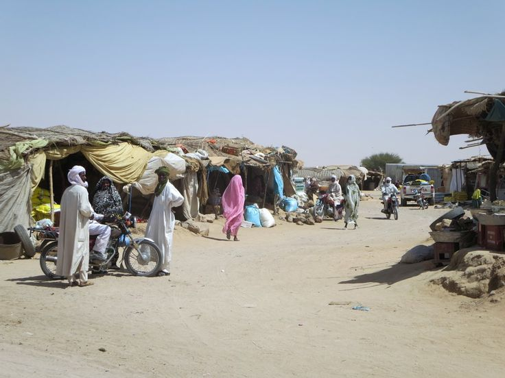 The small town of Kalait between Abeche and Fada in northeastern Chad, Central Africa, has a bustling market.