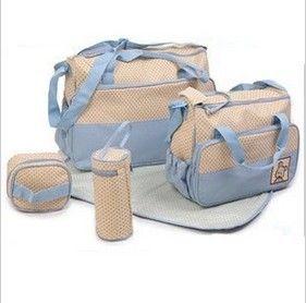 dribbleanddrool - Gorgeous 5 Piece Nappy Bag Set - Light Blue, $29.00 (http://www.dribbleanddrool.com.au/gorgeous-5-piece-nappy-bag-set-light-blue/)