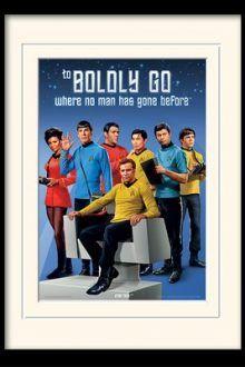 Boldly Go by Star Trek Mounted Framed Vintage Advertisement 220x330 Great Star Trek Gift Ideas