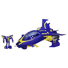 TRANSFORMERS PRIME - BEAST HUNTERS CYBERVERSE BEAST TRACKER - Sky Claw with Smokescreen Figure