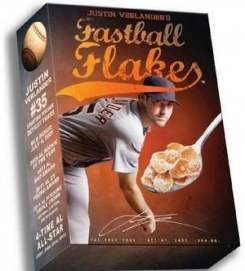 Justin Verlander fastball flakes!