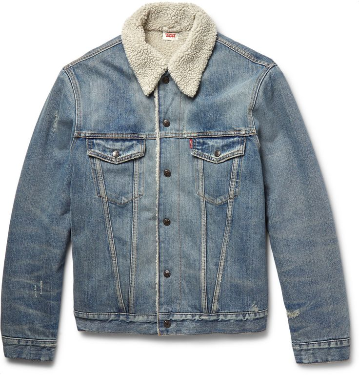 Levi 39 s vintage clothing shearling lined denim jacket for Levis vintage denim shirt 1950 sawtooth slim fit
