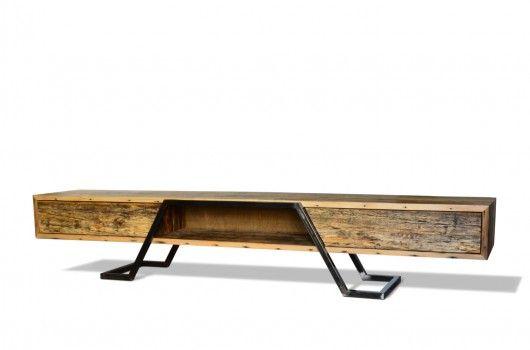 Szafka NANO RTV 250 SLIM, Drewno z ł�łdek